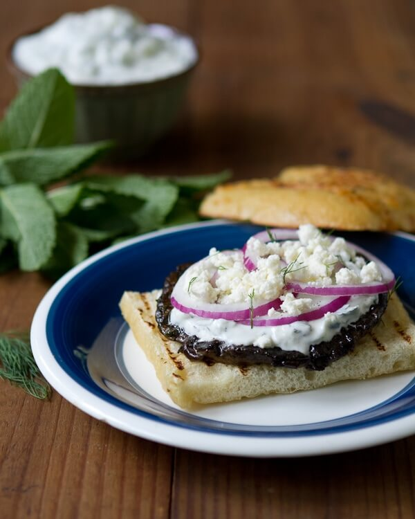 Greek Grilled Portabello Sandwich