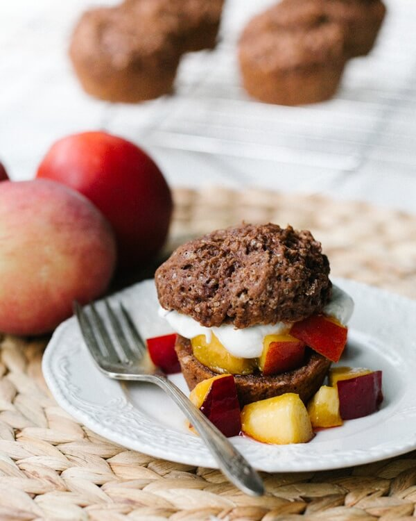 Chocolate Peach Shortcake