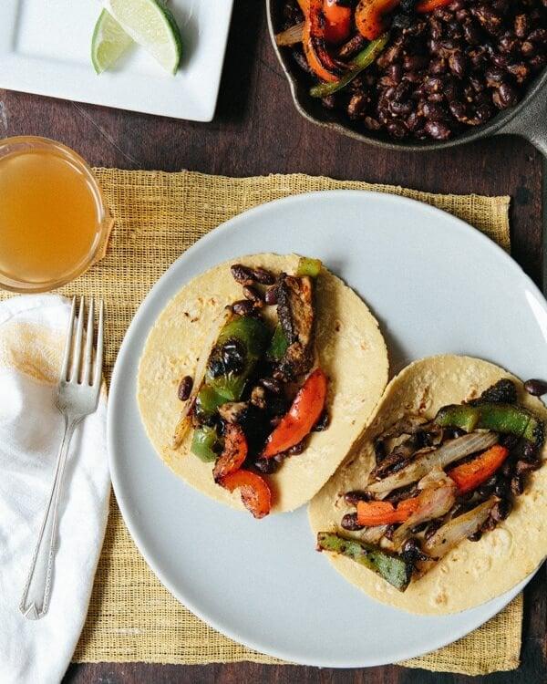 Grilled Vegetarian Fajitas