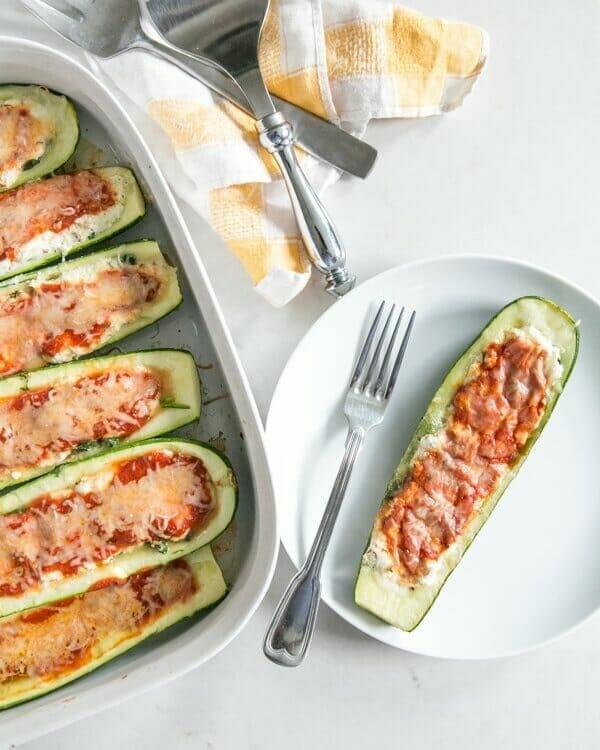 Lasagna Stuffed Zucchini
