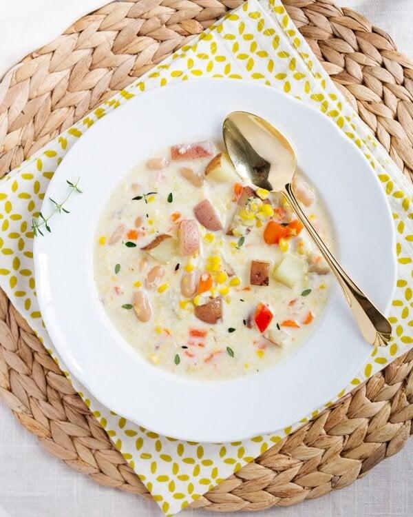 Potato Corn Chowder | Heathy chowder