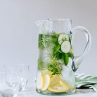 Herb Cucumber Water Recipe