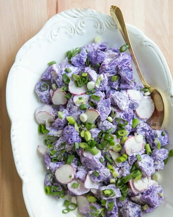 by purple potato salad with dijon purple okinawan potato purple potato ...