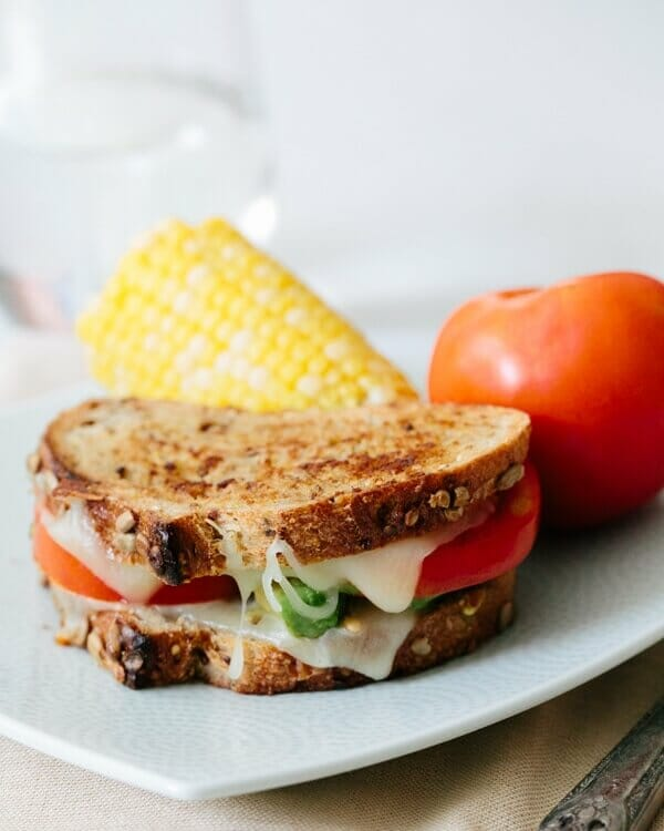 Grilled Cheese with Tomato and Avocado