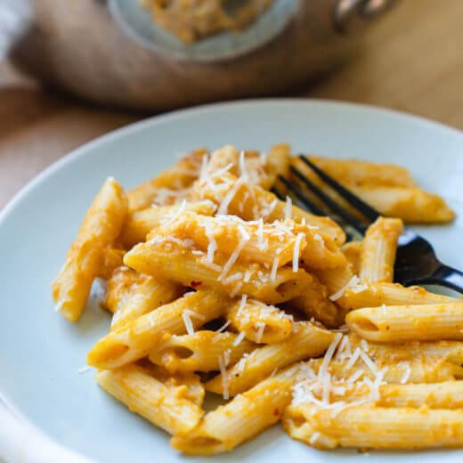Pumpkin Penne with Parmesan | Pumpkin recipes | Pumpkin pasta
