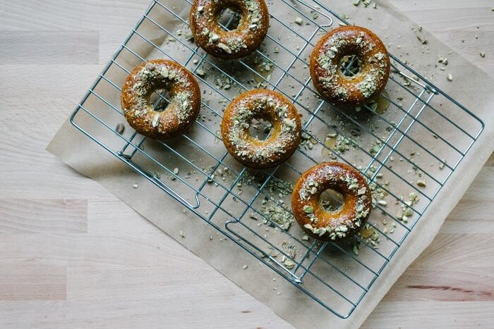 Gluten Free Donuts on wire cooling rack
