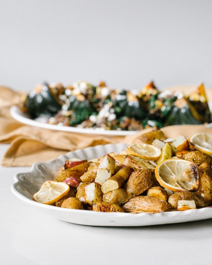 Lemon Rosemary Roasted Potatoes | A Couple Cooks