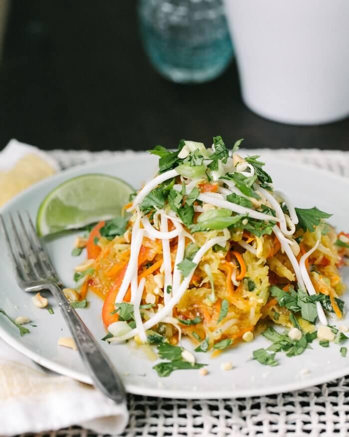 Spaghetti Squash Pad Thai | A Couple Cooks