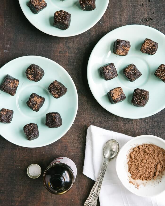 Mint Chocolate Brownie Bites | A Couple Cooks