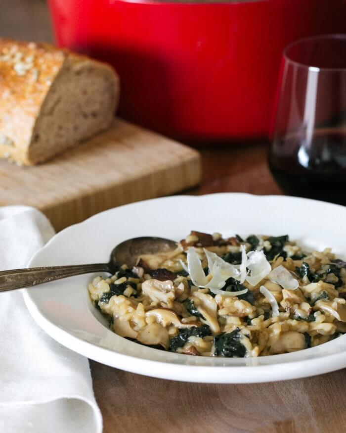 Mushroom and Kale Risotto | A Couple Cooks
