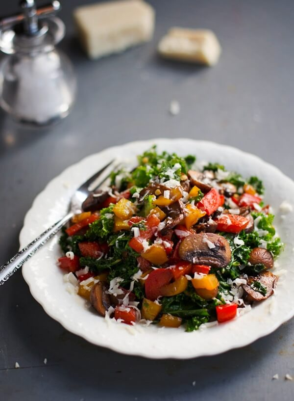 Warm Balsamic Kale Salad | Pinch of Yum