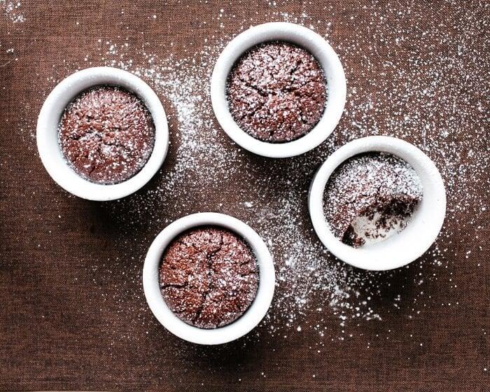 Flourless Chocolate Almond Cakes | A Couple Cooks