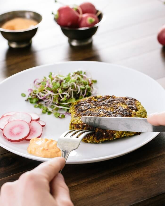 Falafel Recipe with Harissa Yogurt