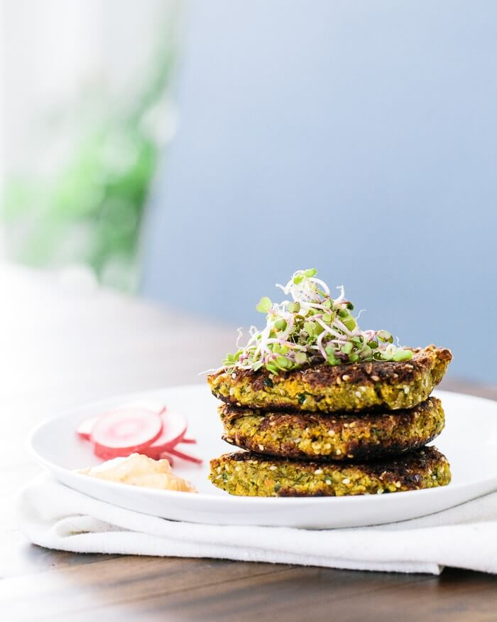 Falafel Patties with Harissa Yogurt | A Couple Cooks