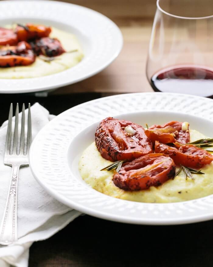 Rosemary Roasted Tomatoes with Polenta | A Couple Cooks
