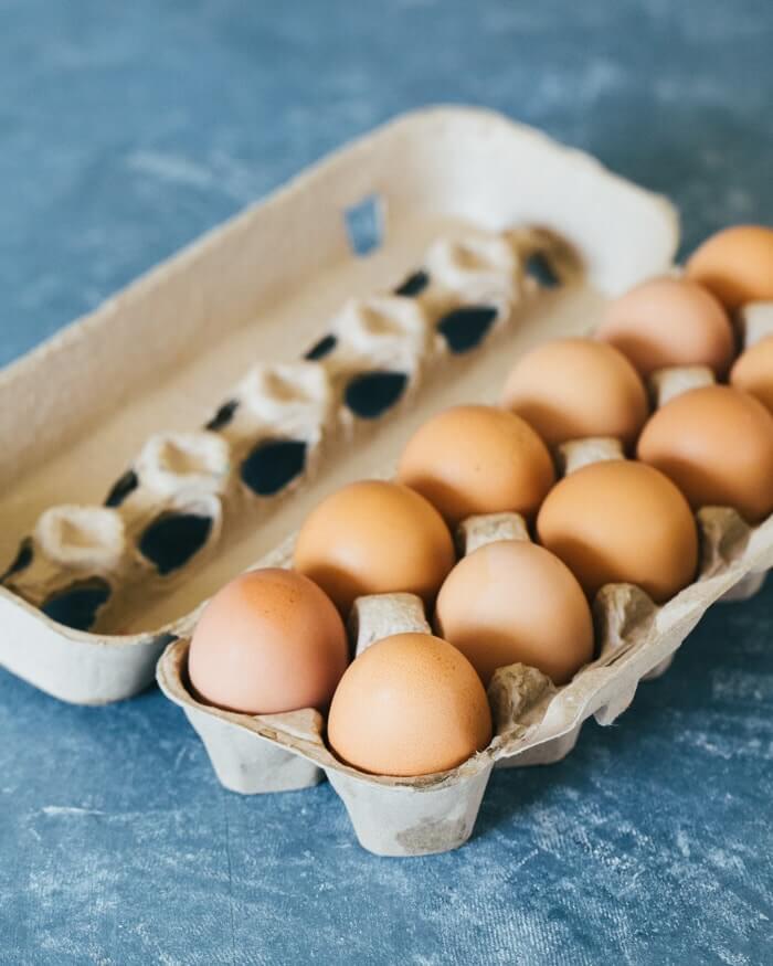 Eggs at farmer's market