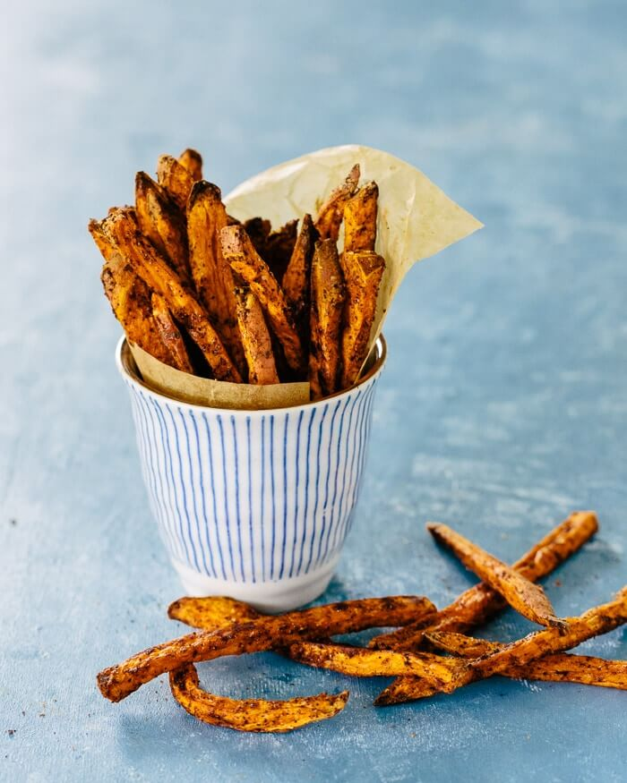 Baked Crispy Sweet Potato Fries | A Couple Cooks