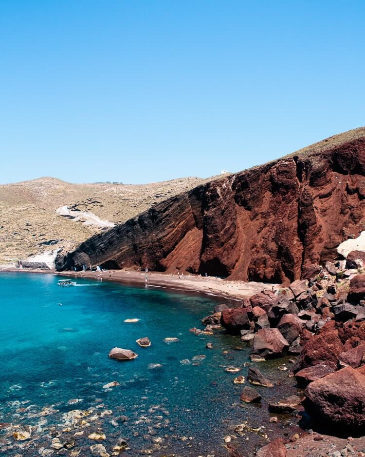 Santorini beaches | The Red Beach