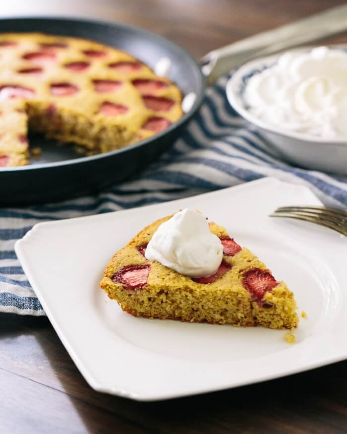 Strawberry Maple Cornbread Cake | A Couple Cooks
