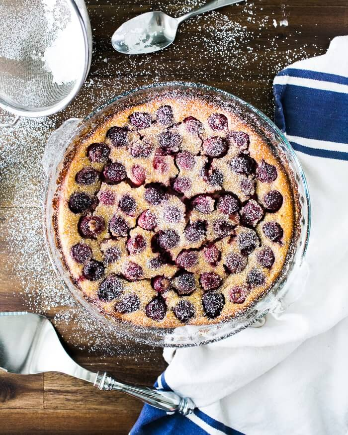 Cherry Buttermilk Clafoutis | A Couple Cooks via Vibrant Food