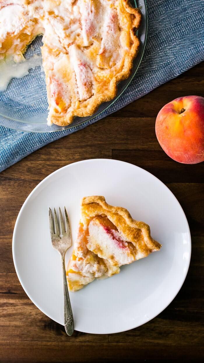The Best Peach Pie Sliced| A Couple Cooks