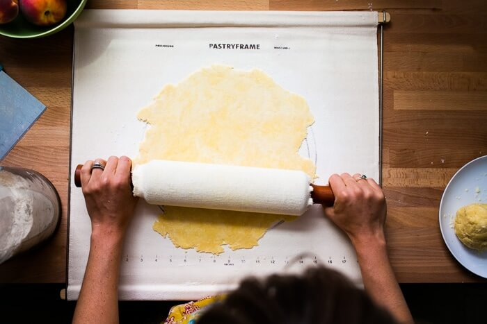 Rolling out pie dough
