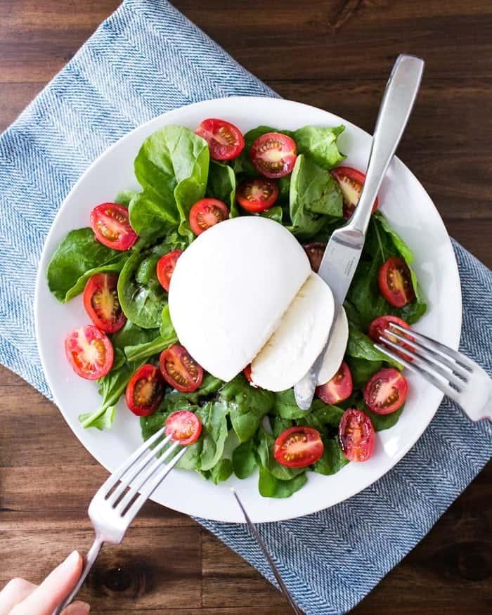 Arugula and Tomato Burrata Salad