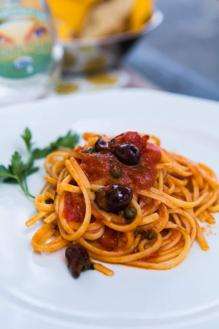 Positano restaurant | Pasta puttanesca