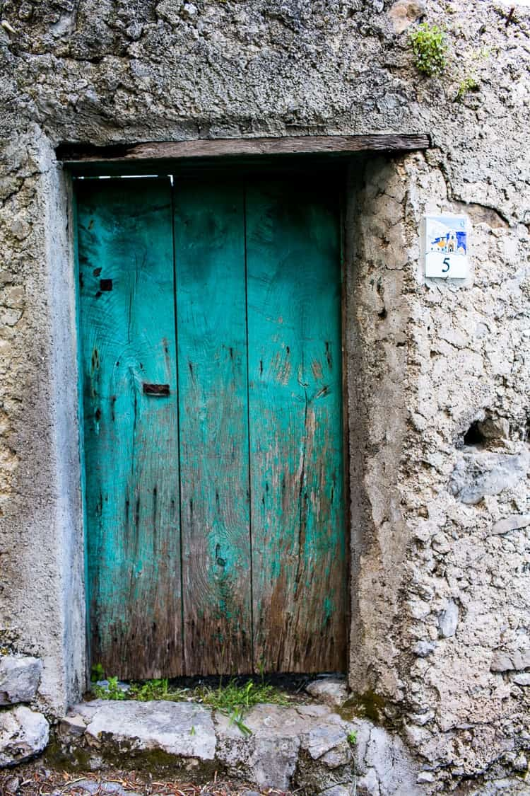 Amalfi Coast Italy | Green door