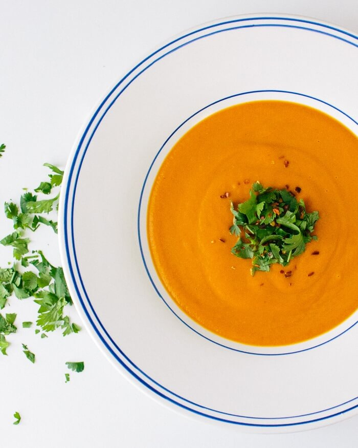 Carrot Coconut Curry Soup | A Couple Cooks