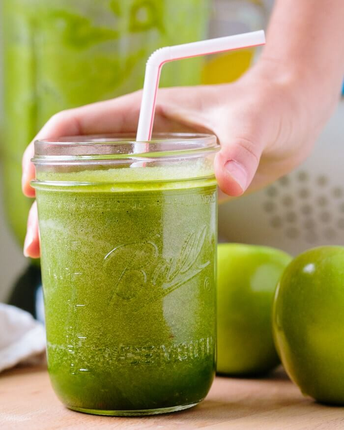Green Apple Smoothie | A Couple Cooks