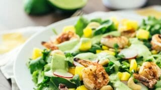 Mango Salad with Grilled Shrimp