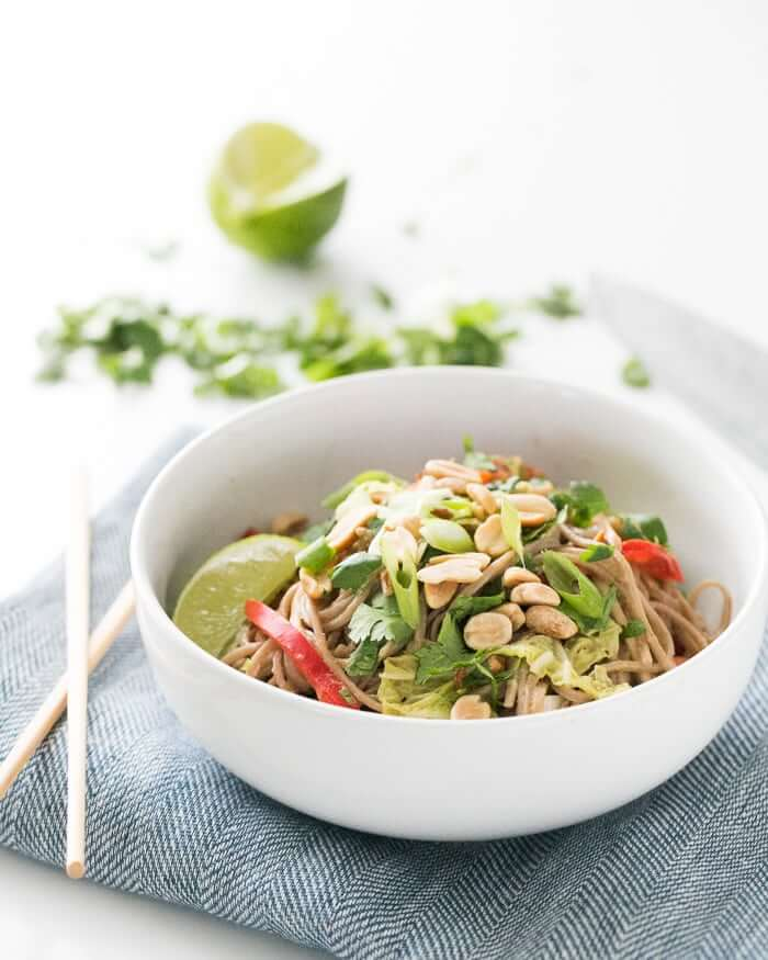 Peanut Noodles with Napa Cabbage Recipe