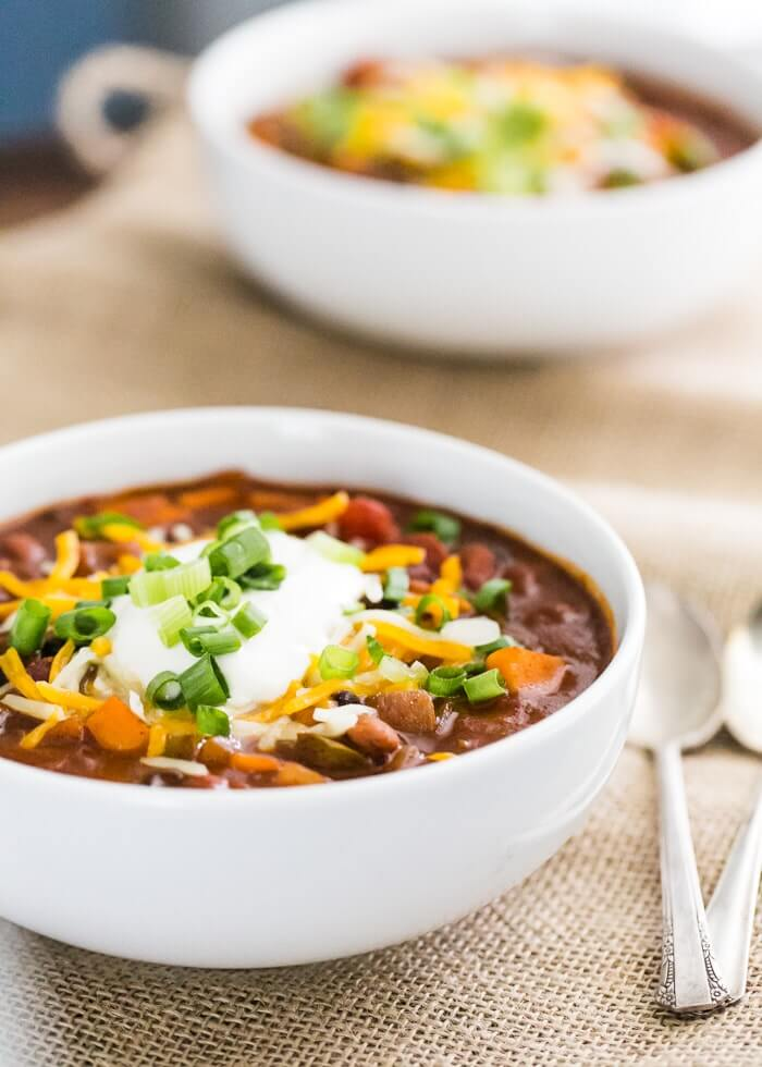 All-Star Sweet Potato Chili | A Couple Cooks