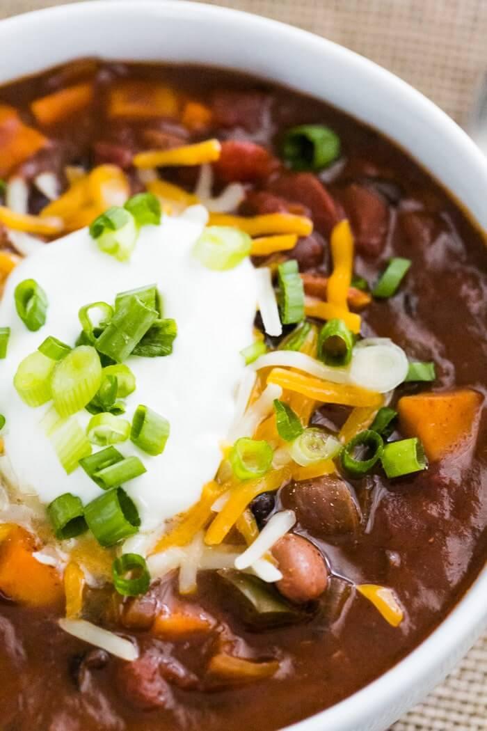 Sweet potato chili recipe