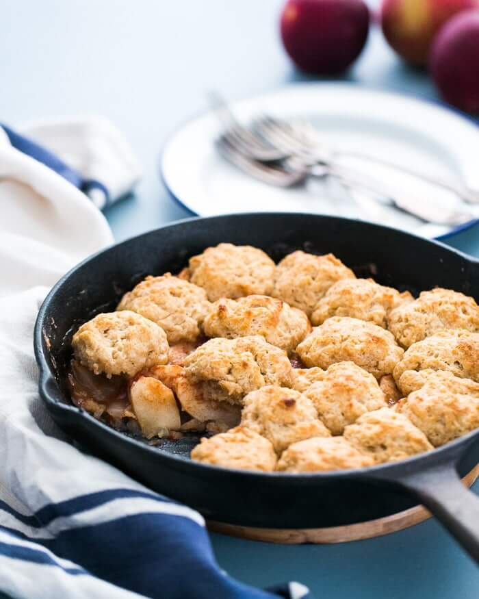 Skillet Apple Cobbler | A Couple Cooks