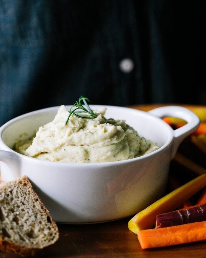 Garlic Herb White Bean Dip