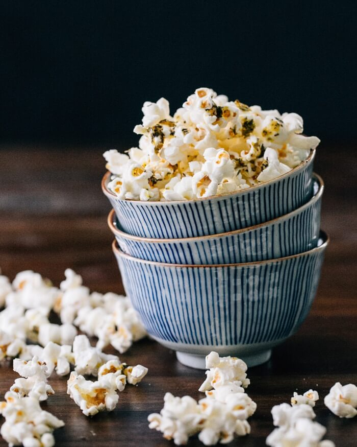 Herb Butter Popcorn | A Couple Cooks