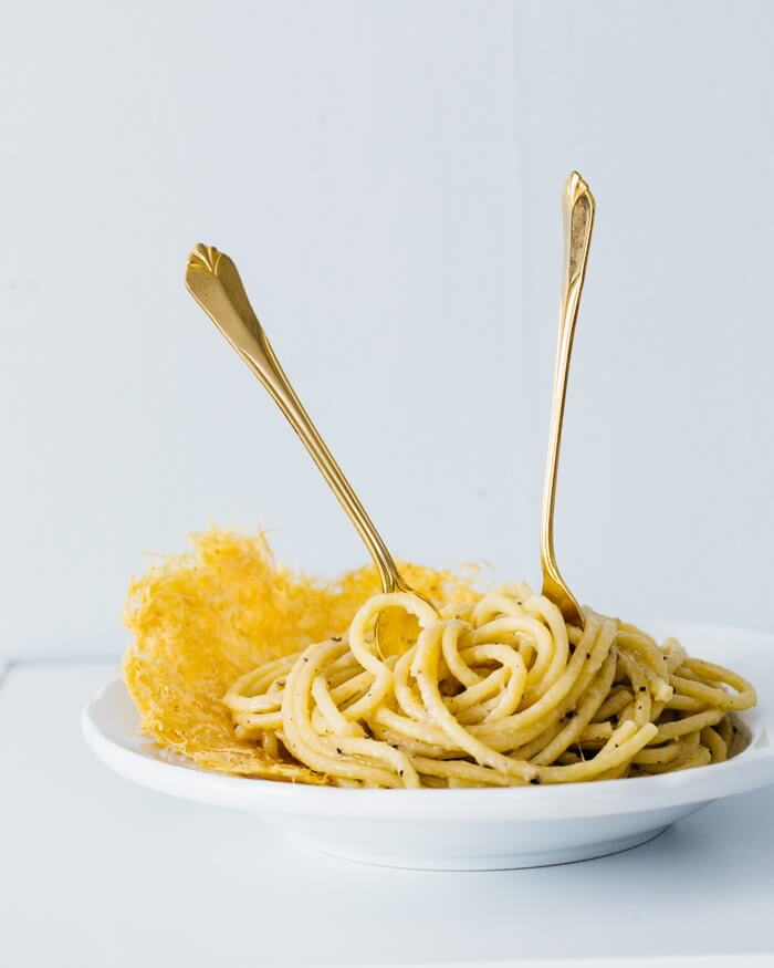 Cacio e Pepe (Cheese and Pepper Pasta) | A Couple Cooks