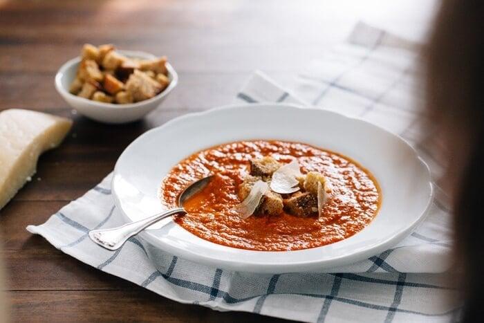 Tomato Artichoke Soup | A Couple Cooks