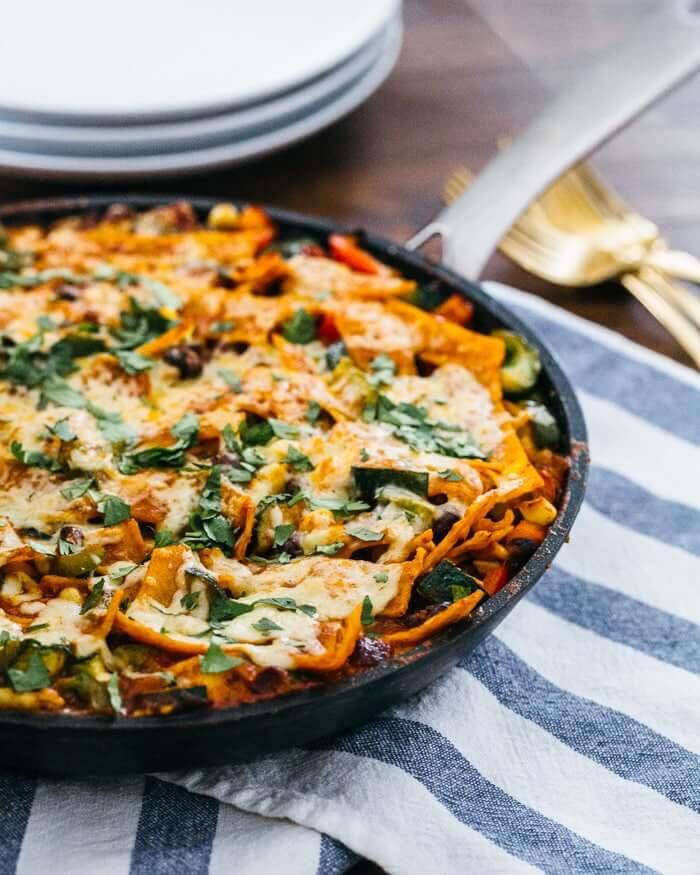 Vegetarian Skillet Enchiladas
