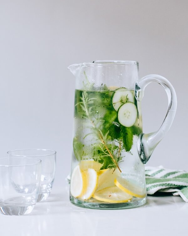 Cucumber Herb Infused Water | A Couple Cooks