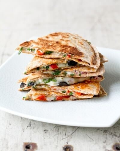Greek Quesadillas |A Couple Cooks