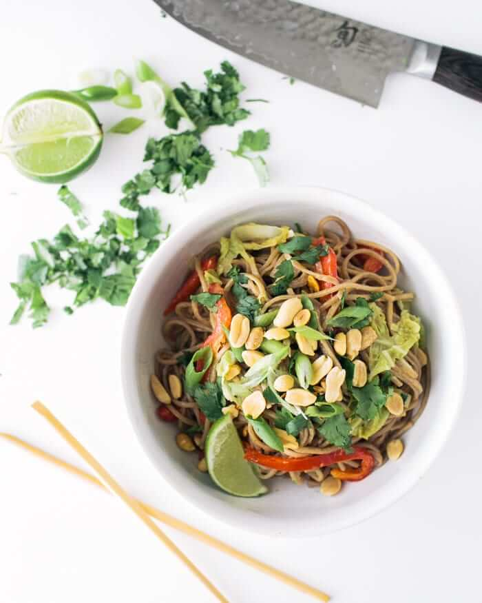 Peanut Noodles with Napa Cabbage | A Couple Cooks