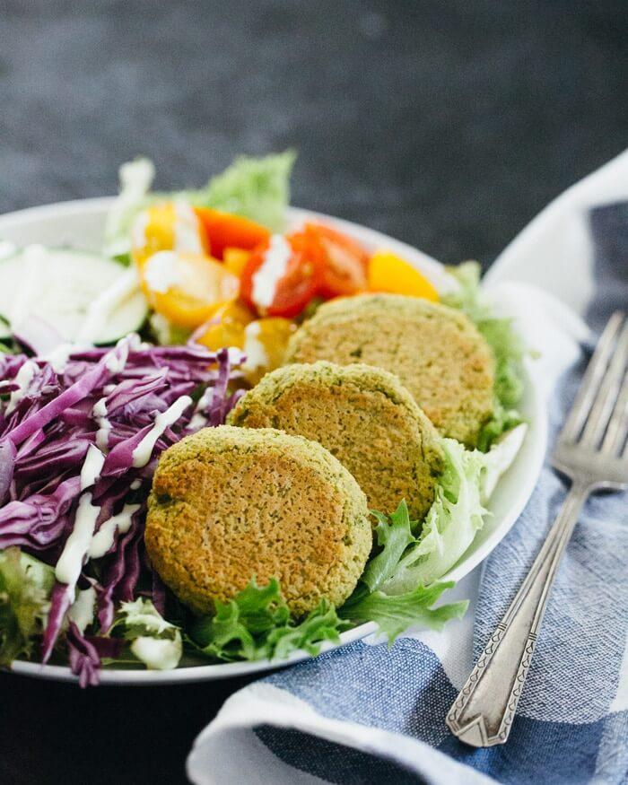 Baked Falafel Salad Bowl   A Couple Cooks