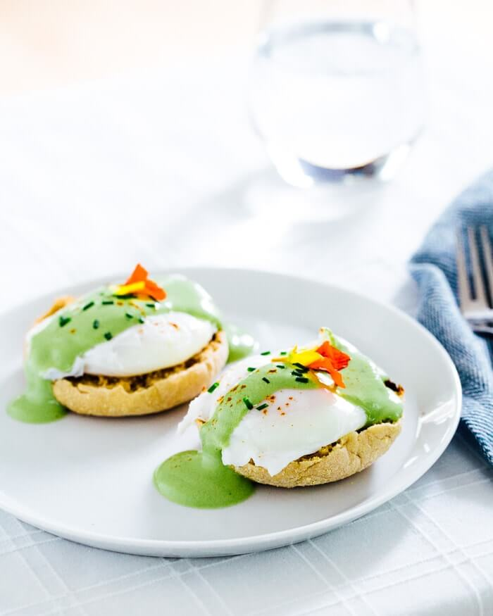 Matcha Eggs Benedict | A Couple Cooks