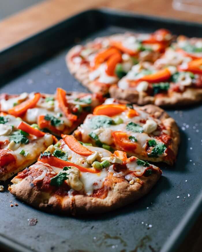 Thai Curry Pizza with Naan Bread | Naan pizza ideas