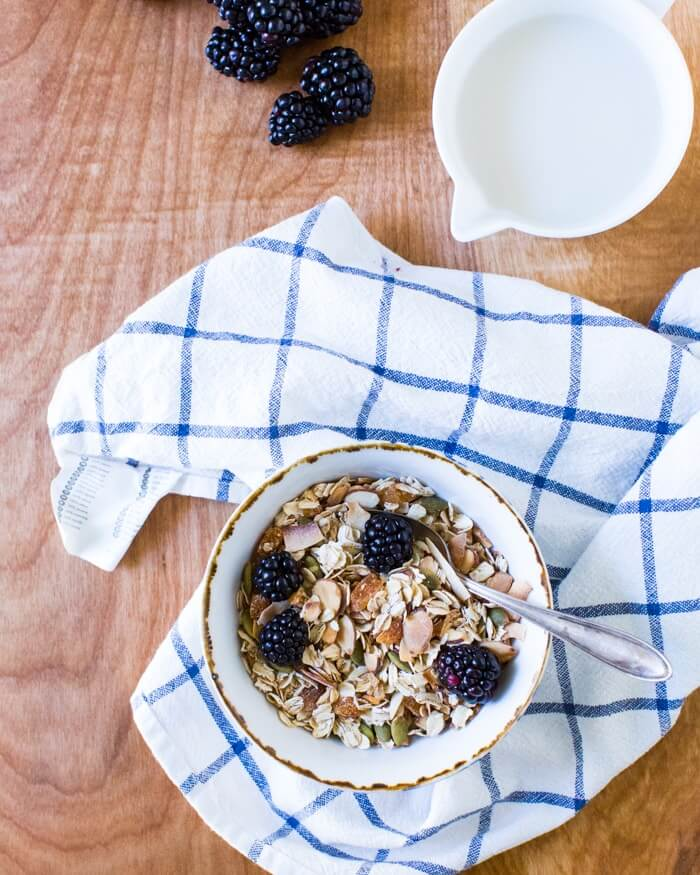 Toasted Coconut Apricot Muesli | A Couple Cooks