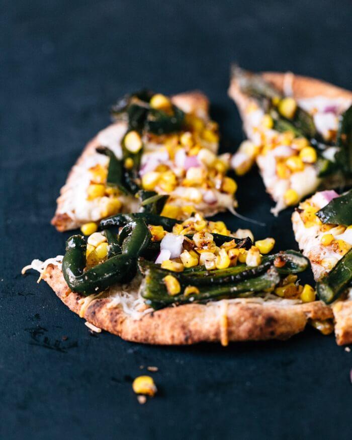 Poblano and Corn Pizza