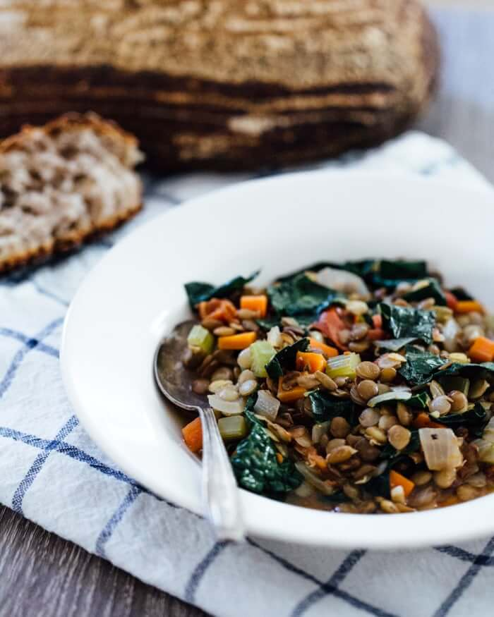 Hearty Sprouted Lentil Stew Recipe | What are sprouted lentils? | Lacinato kale